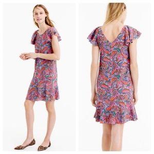 J. Crew Vibrant Paisley Dress